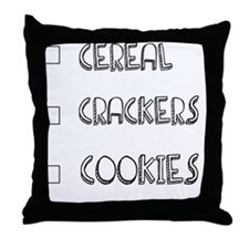 shopping bag COOKIES Throw Pillow