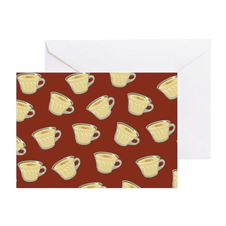 Eggnog Pattern Greeting Cards