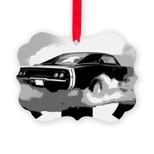 charger white shirt2 Picture Ornament