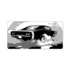 charger white shirt2 Aluminum License Plate