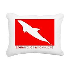 ScubaDolphinAqua2 Rectangular Canvas Pillow