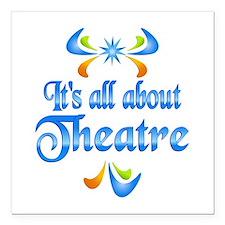 "About Theatre Square Car Magnet 3"" x 3"""
