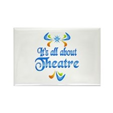 About Theatre Rectangle Magnet (100 pack)