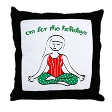 Om for the Holidays Throw Pillow