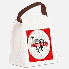 coney-red-cir-lt-facebg2 Canvas Lunch Bag