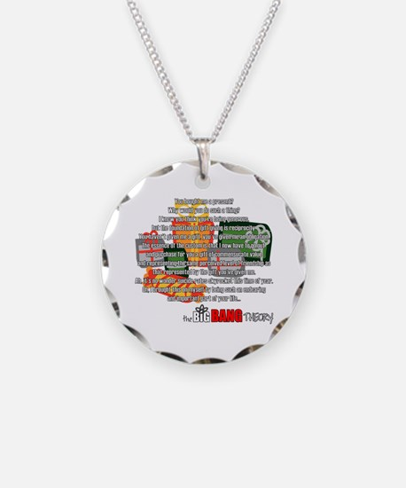 Sheldon's Gift Necklace Circle Charm