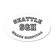 SGH.png Oval Car Magnet