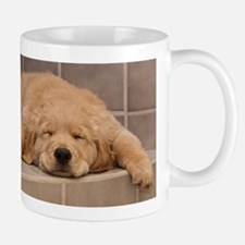 Golden Retriever Puppy Mug: Need Morning Coffee!