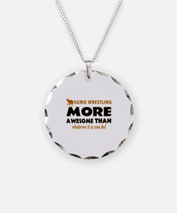 sumo wrestling is awesome designs Necklace