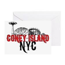 coney_island-crop Greeting Card