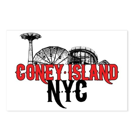 coney_island-crop Postcards (Package of 8)
