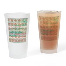 Girly Modern Pastel Geometric Diamo Drinking Glass