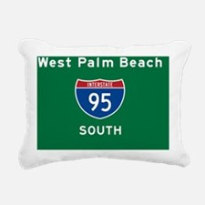 West Palm Beach 95 Rec M Rectangular Canvas Pillow