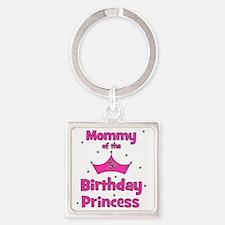 ofthebirthdayprincess_5th_mommy Square Keychain