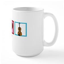 peaceloveviolinwh Mug