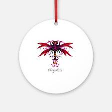 Celestial Dragonfly tshirt Round Ornament