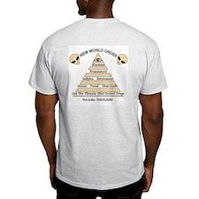 NWO conspiracy Ash Grey T-Shirt