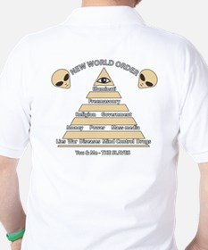 NWO conspiracy Golf Shirt