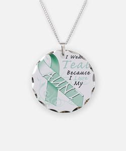 I Wear Teal Because I Love M Necklace