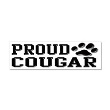 Proud Cougar Car Magnet 10 x 3