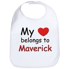 My heart belongs to maverick Bib