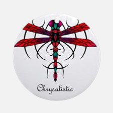 Astral Dragonfly pillow Round Ornament
