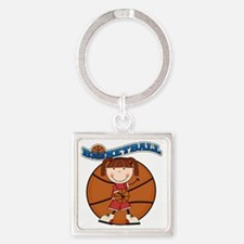 basketballkidfive Square Keychain