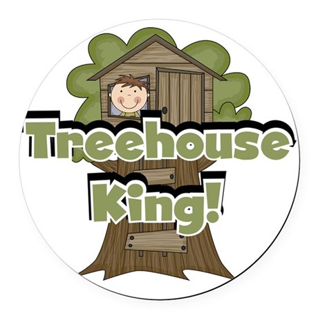 treehouseking Round Car Magnet