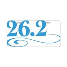 26.2 swirl Aluminum License Plate