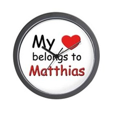 My heart belongs to matthias Wall Clock