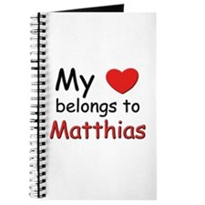 My heart belongs to matthias Journal