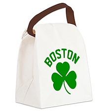 Boston Green Canvas Lunch Bag