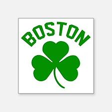 """Boston Green Square Sticker 3"""" x 3"""""""