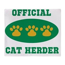 official cat herder Throw Blanket