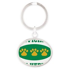 official cat herder Oval Keychain