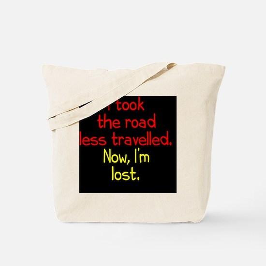 less-travelled_rnd2 Tote Bag
