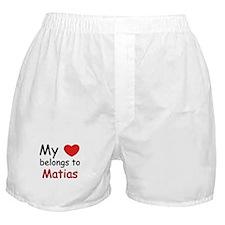 My heart belongs to matias Boxer Shorts