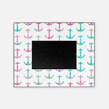 Pink Teal Turquoise Glitter Nautical Picture Frame