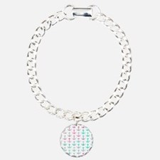 Pink Teal Turquoise Glit Bracelet