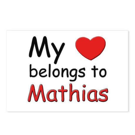 My heart belongs to mathias Postcards (Package of