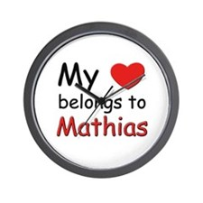 My heart belongs to mathias Wall Clock