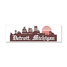 Detroit Linesky Car Magnet 10 x 3