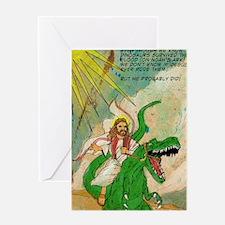 jesus raptor Greeting Card