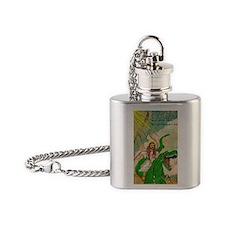 jesus raptor Flask Necklace