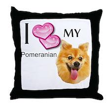 Ilovemypomeranian3 Throw Pillow