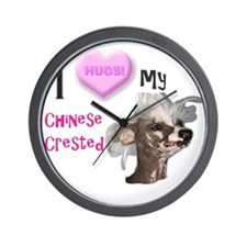 ChineseCrestedpink2 Wall Clock