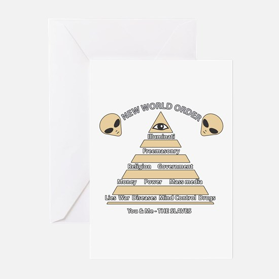 NWO conspiracy Greeting Cards (Pk of 10)