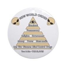 NWO conspiracy Ornament (Round)