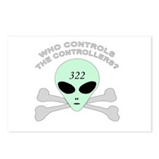 NWO conspiracy Postcards (Package of 8)