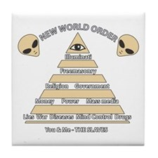 NWO conspiracy Tile Coaster